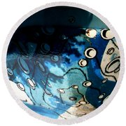 Swimming Pool Mural 2 Round Beach Towel