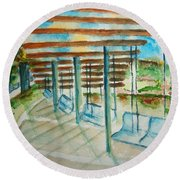 Swings At Smale Park Round Beach Towel