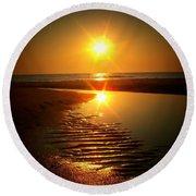 Swirl Me A Sunrise Round Beach Towel