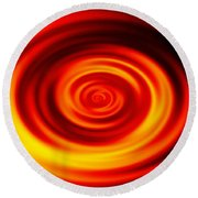 Swirled Sunrise Round Beach Towel