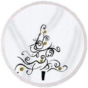 Swirled Tree Round Beach Towel