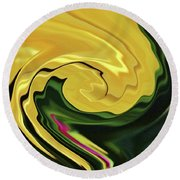 Swirling Colors Round Beach Towel