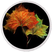 Swirling In The Wind Round Beach Towel