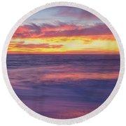 Swirling Ocean And Sky Round Beach Towel