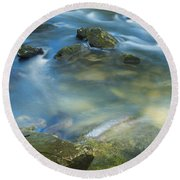 Swirling Pools Round Beach Towel