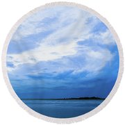 Swirling Sky Round Beach Towel