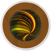 Swirls And Curls Round Beach Towel