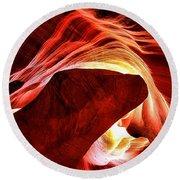 Swirls Of Fire Round Beach Towel