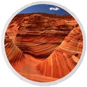 Swirls Waves And Buttes Round Beach Towel