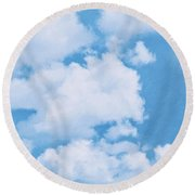 Swiss Lanes Round Beach Towel