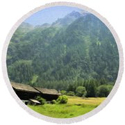 Swiss Mountain Home Round Beach Towel