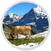 Swiss Scene Round Beach Towel