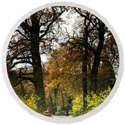 Swithland Woods, Leicestershire Round Beach Towel