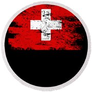 Switzerland Gift Country Flag Patriotic Travel Shirt Europe Light Round Beach Towel
