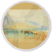 Switzerland  Possibly Lake Round Beach Towel