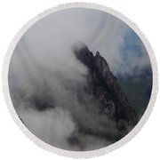 Switzerland. View From The Top Of Large Mythen Round Beach Towel