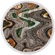Sycamore Tree Abstract # 9283 Round Beach Towel