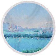 Sydney Harbour And The Opera House Round Beach Towel