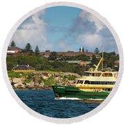 Sydney Harbour Panorama Round Beach Towel