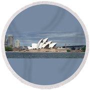 Sydney Opera House Panorama Round Beach Towel