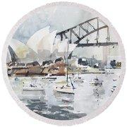 Sydney Opera  Round Beach Towel