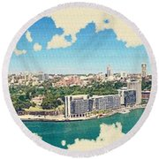 Sydney Serenade Round Beach Towel