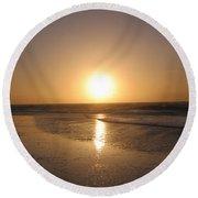 Sylt Sunset 6 Round Beach Towel