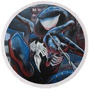 Symbiote Spider-man  Round Beach Towel