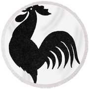 Symbol: Announcement Round Beach Towel