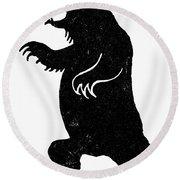 Symbol: Bear Round Beach Towel