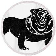 Symbol: Bulldog Round Beach Towel