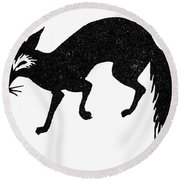 Symbol: Fox Round Beach Towel