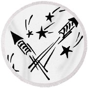 Symbol: Independence Day Round Beach Towel