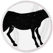 Symbol: Mule Round Beach Towel