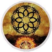 Symbols Of The Occult Round Beach Towel