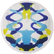 Symmetry 23 Round Beach Towel