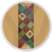 Symmetry In The Storm Round Beach Towel