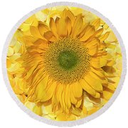 Symphony In Yellow Round Beach Towel