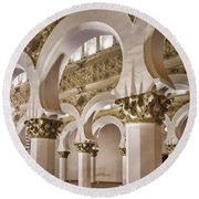Synagogue Of St Mary The White Round Beach Towel