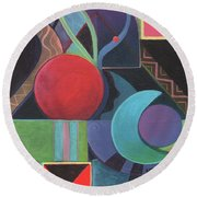 Synergy Round Beach Towel