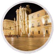 Syracuse, Sicily, Italy - Ortigia Downtown In Syracuse By Round Beach Towel