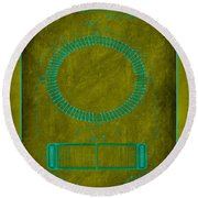 System Of Electrical Distribution Patent Drawing 1d Round Beach Towel