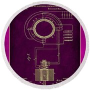 System Of Electrical Distribution Patent Drawing 2c Round Beach Towel