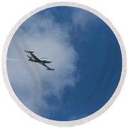 T-33 Jet Airplane 3 Round Beach Towel