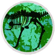 T. Rex Round Beach Towel
