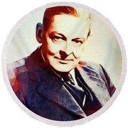 T. S. Eliot, Literary Legend Round Beach Towel