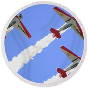 T6 Aerobatics Round Beach Towel