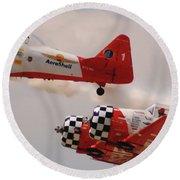 T6 Aerobatics II Round Beach Towel