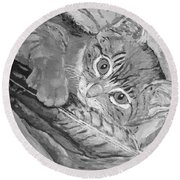 Tabby Kitten Round Beach Towel