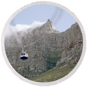 Table Mountain Cable Car Round Beach Towel